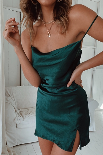 Lorena Dress - Forest Green