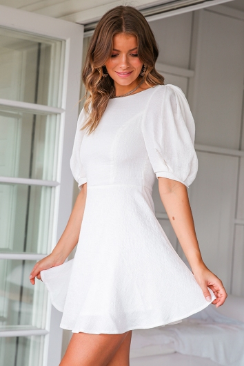 5th Avenue Dress - White