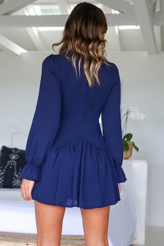 Topaz Dress - Navy