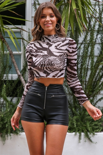 Urban Animal Top - Mix Beige