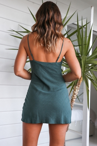 Empty Glasses Dress - Green