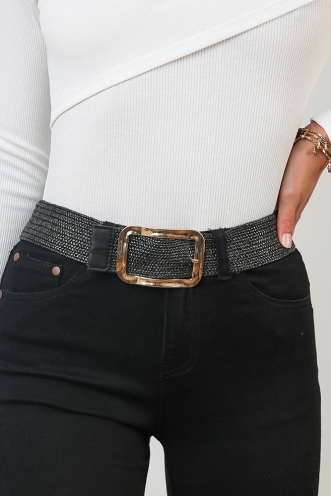 World View Belt - Black/Gold