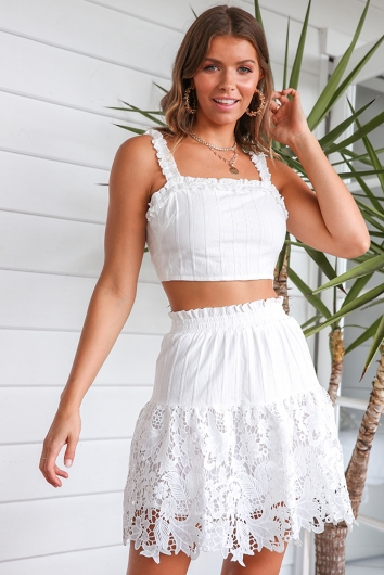 Neighbourhood Girl Top - White