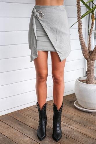 Brave Heart Skirt - Khaki Grey