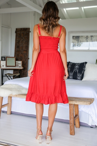 Sandie Dress - Red
