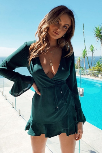 Star Treatment Playsuit - Forest Green