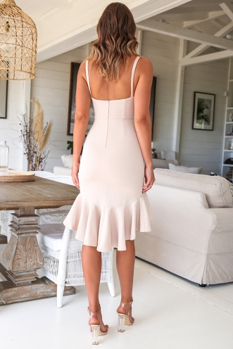 City Lights Dress - Beige
