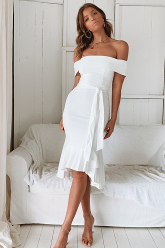 Make Away Dress - White