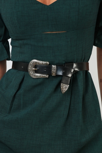 Running Wild Belt - Black/Silver