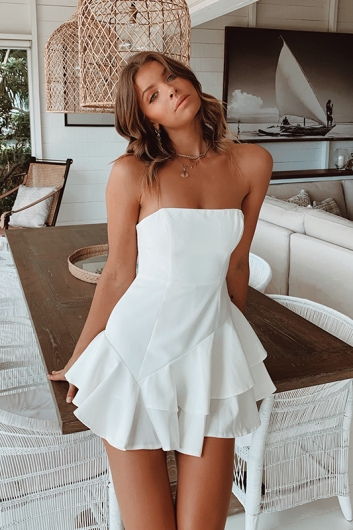 Brittney Playsuit - White