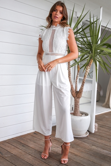 29df406cc5 Kasie Jumpsuit - White - Stelly