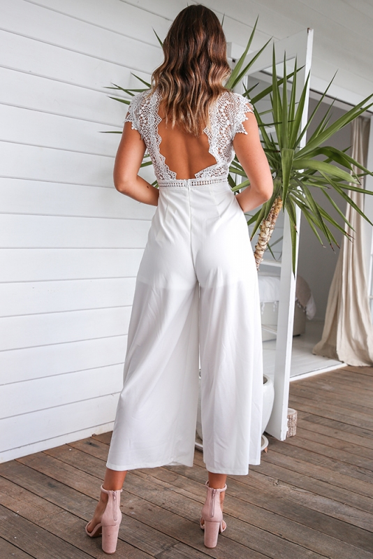 d20b92280f Kasie Jumpsuit - White. Loading zoom