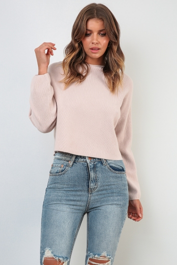 Raw Beauty Jumper - Blush