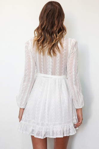 Belamy Dress - White