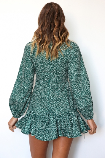 Paddington Dress - Green Print