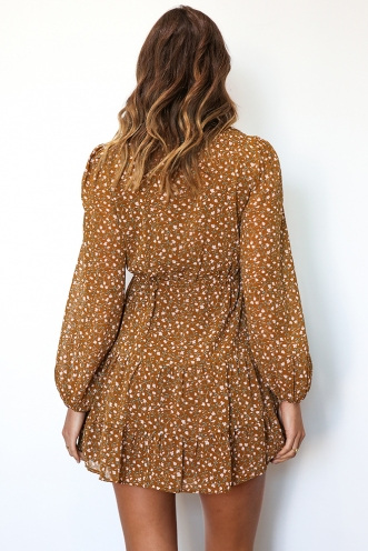 Lotte Dress - Brown Print