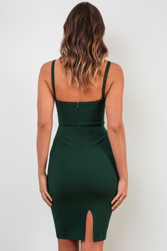 Makeeley Dress - Forest Green