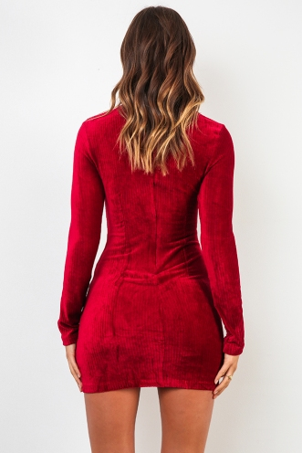 Velvet Underground Dress - Maroon