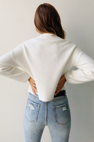 Raw Beauty Jumper - White