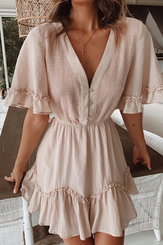 Simple Life Dress - Beige