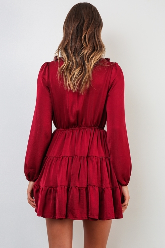 Bec Dress - Maroon