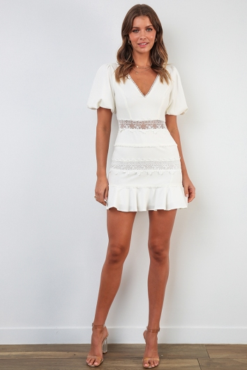 Notebook Dress - White