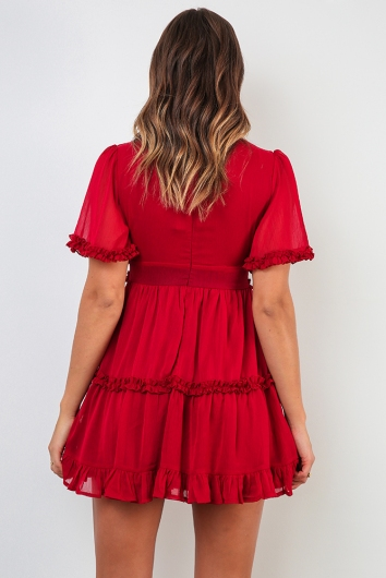 Blaire Dress - Maroon