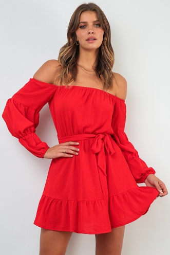 Harriet Dress - Red