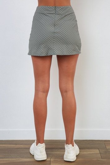 Britney Skirt - Khaki Check