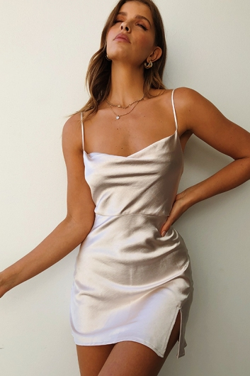 Lorena Dress - Champagne