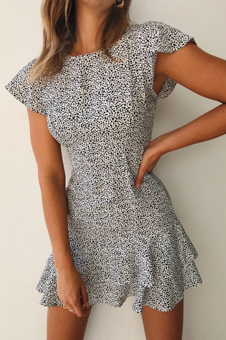 Aria Dress - White Print
