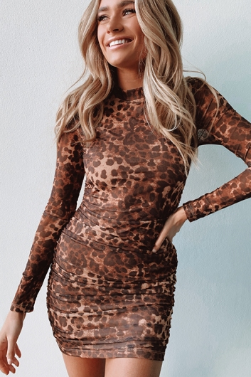 Bad Gal Dress - Leopard