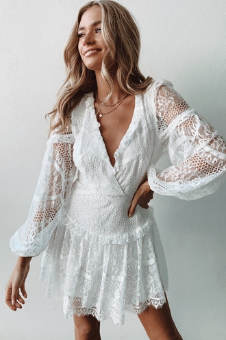 Brave Heart Dress - White Lace