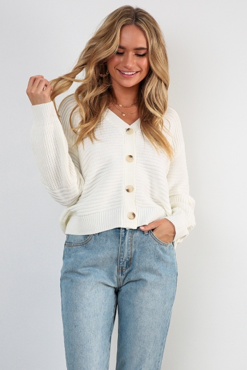 Early Rise Cardigan - White