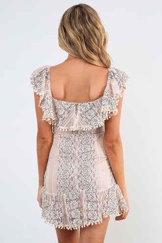 Kym Dress - Nude Lace