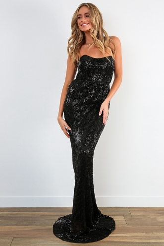 G-L-A-M-orous Dress - Black Sequin