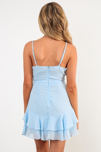 Fly With Me Dress - Light Blue