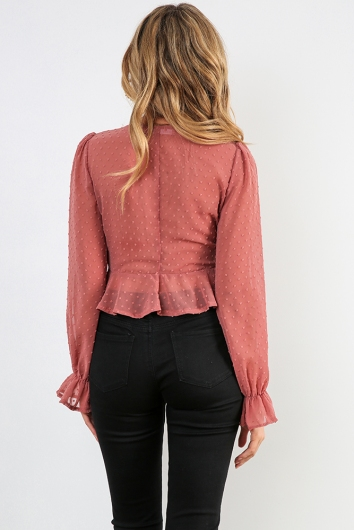 On The Luna Top - Dusty Pink