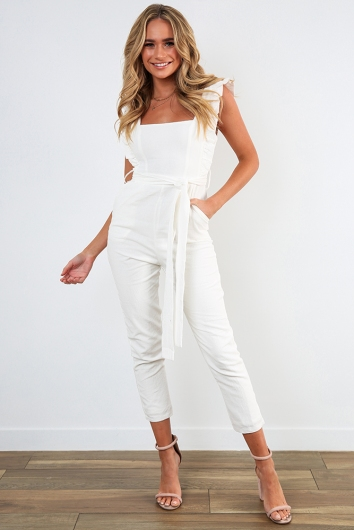 New York Minute Jumpsuit - White