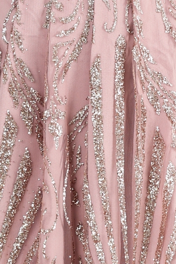 Visualise It Dress - Rose Gold Glitter