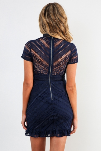 Mischa Dress - Navy