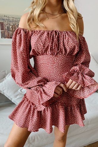 Dominique Dress - Pink Print
