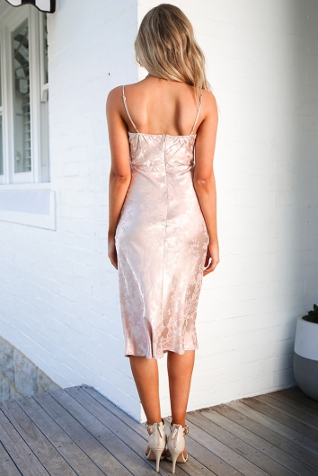 Tanya Dress - Champagne Brocade