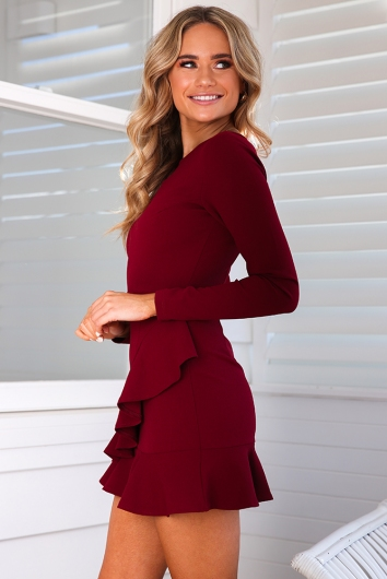 Livi Dress - Wine