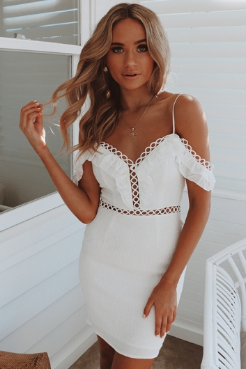 Spring Fling Dress - White