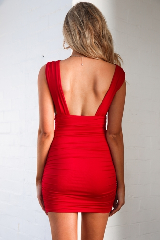 I Don't Bite Dress - Red