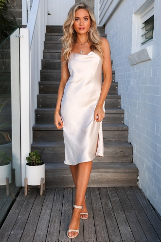 Katelin Dress - Champagne