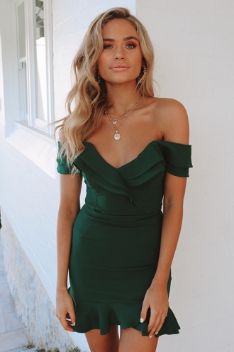 Cassie Dress - Forest Green