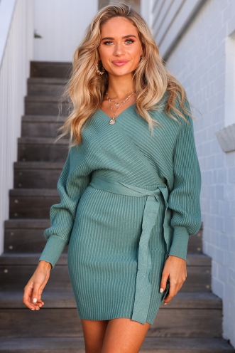 Modern World Dress - Sage Green