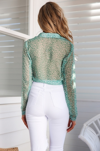 Jemima Top - Green Print